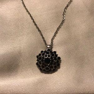 NWT. Beautiful black gemstone necklace